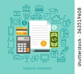 financial statement conceptual... | Shutterstock .eps vector #363519608