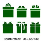 gift boxes icons set with bows... | Shutterstock .eps vector #363520430