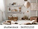 interior children's room in the ... | Shutterstock . vector #363521210