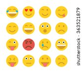 set of emoticons. set of emoji. ... | Shutterstock .eps vector #363521879