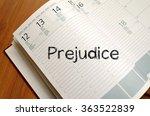 prejudice text concept write on ... | Shutterstock . vector #363522839