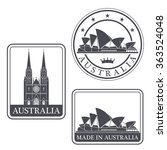 australia. rubber and stamp