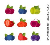 berry icon set. flat style ... | Shutterstock .eps vector #363527150