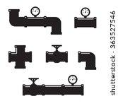 set of black details pipes | Shutterstock .eps vector #363527546