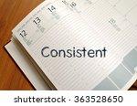 consistent text concept write... | Shutterstock . vector #363528650