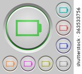 set of color empty battery sunk ... | Shutterstock .eps vector #363533756