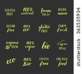 sugar free  gluten free ... | Shutterstock .eps vector #363535934