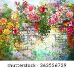 Abstract Flowers On Wall ...