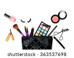 make up bag with cosmetics and... | Shutterstock . vector #363537698