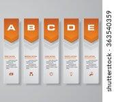 design clean number banners... | Shutterstock .eps vector #363540359
