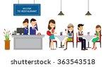 restaurant banner. vector... | Shutterstock .eps vector #363543518