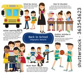 school infographics element.... | Shutterstock .eps vector #363543623