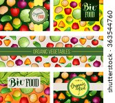 organic food shop invitation... | Shutterstock .eps vector #363544760