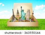 famous monuments of the world... | Shutterstock . vector #363550166