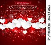 happy valentines day background ... | Shutterstock .eps vector #363551828