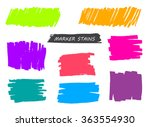 marker stains. grunge banners.... | Shutterstock .eps vector #363554930