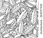 hand drawn artistic ethnic... | Shutterstock .eps vector #363557420