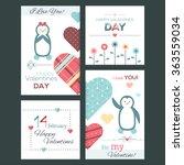 set of flat design happy... | Shutterstock .eps vector #363559034