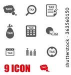vector grey tax icon set   Shutterstock .eps vector #363560150