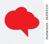 speech bubble icon illustration ... | Shutterstock .eps vector #363563114