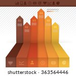 infographics template with six...   Shutterstock .eps vector #363564446