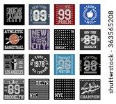 new york  typography fashion... | Shutterstock .eps vector #363565208