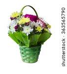 bouquet of flowers in a basket... | Shutterstock . vector #363565790