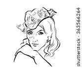 vector hand drawn portrait of... | Shutterstock .eps vector #363566264