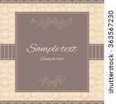 elegant template for any... | Shutterstock .eps vector #363567230