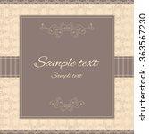 elegant template for any... | Shutterstock .eps vector #363567230