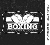 vintage logo for a boxing on... | Shutterstock . vector #363578480