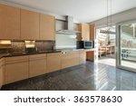 Stock photo architecture interior of modern apartment domestic kitchen 363578630