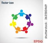 vector icon graphic teamwork...   Shutterstock .eps vector #363583469