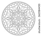 decorative element mandala in... | Shutterstock . vector #363584450