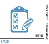 vector checklist icon | Shutterstock .eps vector #363585230