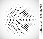 abstract dotted vector... | Shutterstock .eps vector #363587984