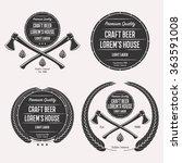 craft beer logo set emblem ... | Shutterstock .eps vector #363591008