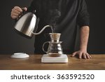 barista black sweatshirt spills ...   Shutterstock . vector #363592520