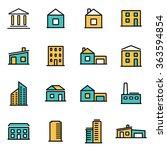 trendy flat line icon pack for... | Shutterstock .eps vector #363594854