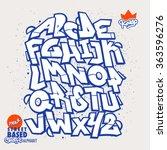 street based graffiti font  ...   Shutterstock .eps vector #363596276