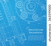 vector technical blueprint of ... | Shutterstock .eps vector #363599000