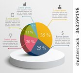 3d business infographics circle ... | Shutterstock .eps vector #363599198