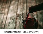 red wine. glass of wine.... | Shutterstock . vector #363599894