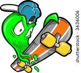 skateboarding booger vector... | Shutterstock .eps vector #3636006