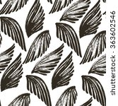 seamless pattern with the wings.... | Shutterstock .eps vector #363602546
