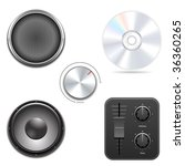 set of audio items. vector... | Shutterstock .eps vector #36360265