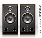isolated speakers. vector... | Shutterstock .eps vector #36360268