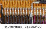 excavator hydraulic pressure...   Shutterstock . vector #363603470