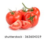 tomatoes isolated on white | Shutterstock . vector #363604319
