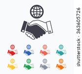 world handshake sign icon.... | Shutterstock . vector #363605726